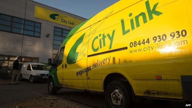 City Link van outside depot