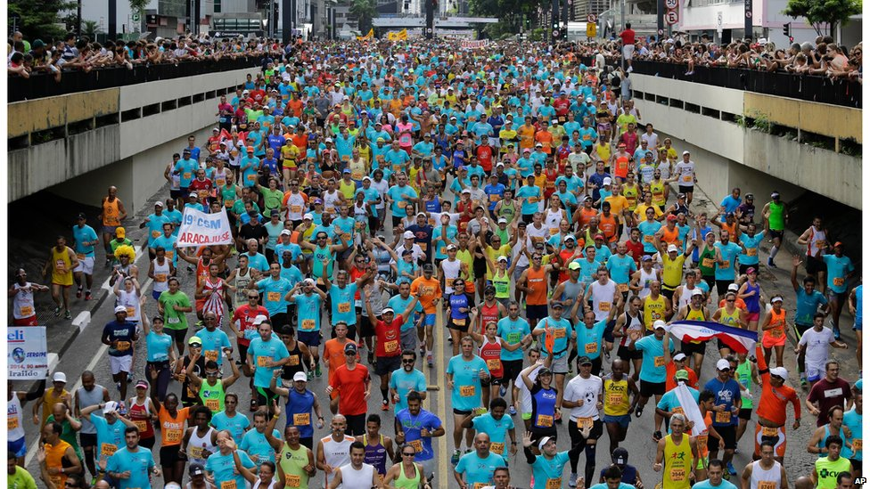 Runners in Brazil