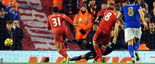 Steven Gerrard scores