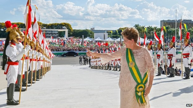 Dilma supporters outside the Planalto Palace