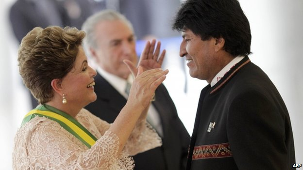 Dilma Rousseff and Evo Morales