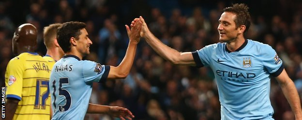 Manchester City duo Frank Lampard and Jesus Navas
