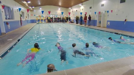 wem swimming pool reopened by volunteers bbc news