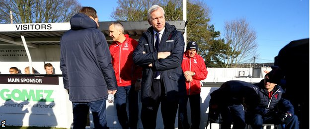 Alan Pardew took charge of his first game as Crystal Palace boss at Dover