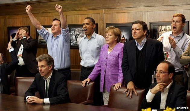 World leaders react to a Champions League goal