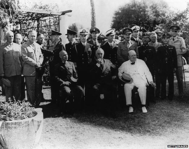 Canton de Carton with Churchill in 1943