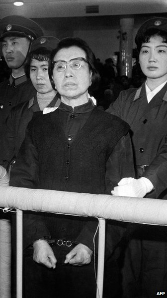 Jiang Qing, widow of former China ruler Mao Zedong and one of the defendants in  the Gang of Four, 27 November 1980