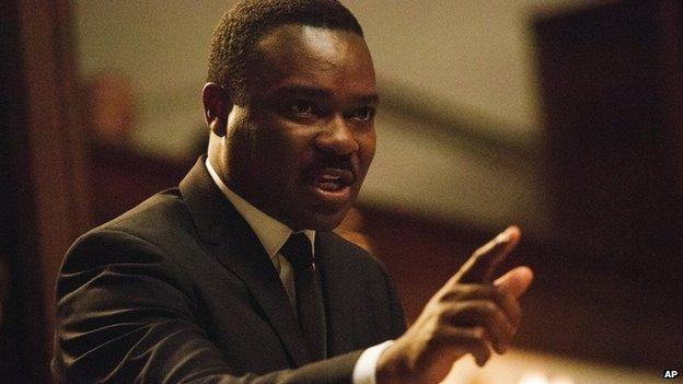 Actor David Oyelowo as Martin Luther King in the film Selma.