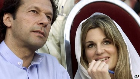 Imran Khan with Jemima at an election rally