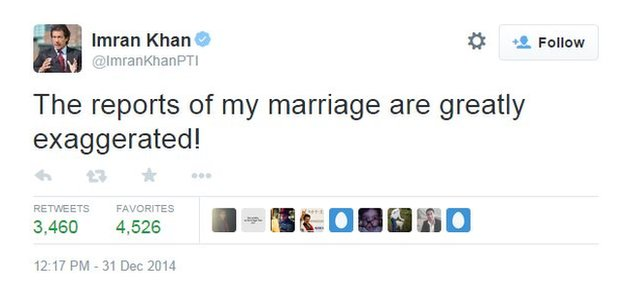 Tweet by Imran Khan