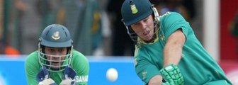 South Africa's Richard Levi bats against Bangladesh