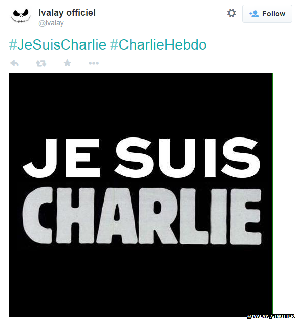 "Translation: ""I am Charlie"""