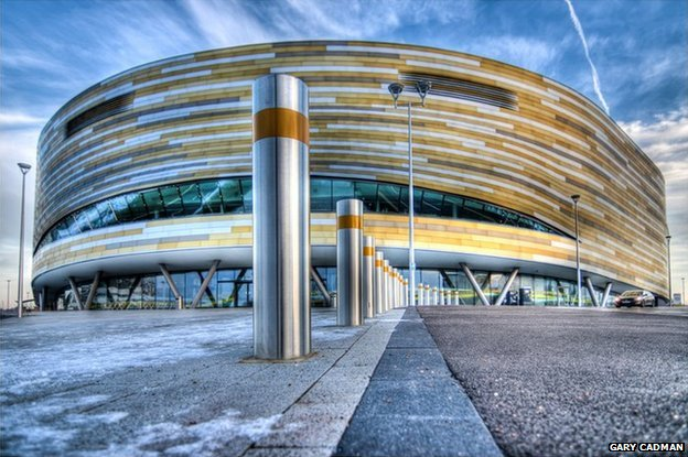 Derby Arena from outside