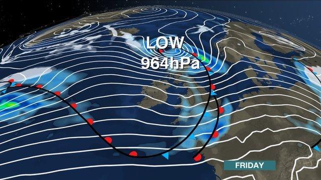 BBC Weather Synoptic Chart 9th Jan 2015
