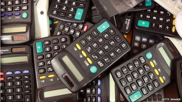 A pile of calculators