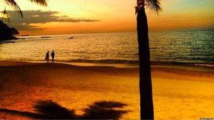White Sand Beach in Khao Lak, Thailand