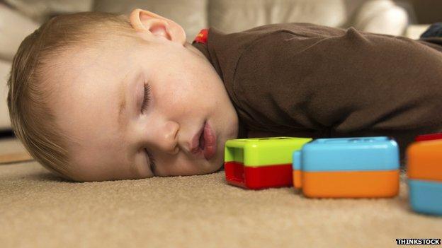 Toddler napping