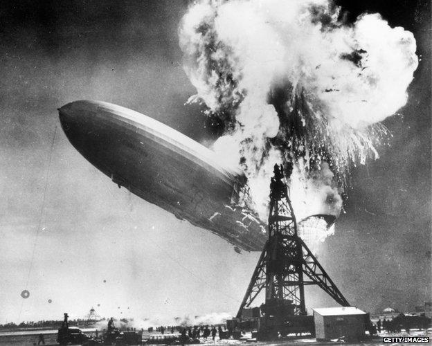 Hindenburg exploding