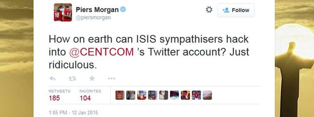A tweet by Piers Morgan.