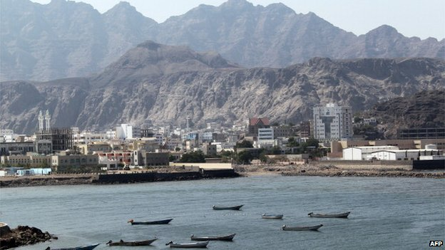 Fishing boats are moored in the old sea port of Aden in southern Yemen, formally a main hub for the trade of gold, incense and other goods from Africa and India to the Arabian peninsular and beyond, on December 01, 2010