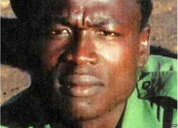 An undated picture taken from the Interpol website on 7 January 2015 shows senior Lord's Resistance Army leader Dominic Ongwen.
