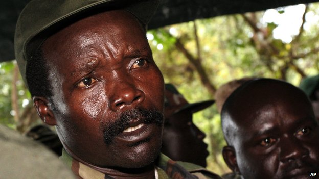 In this  2006 file photo, the leader of the Lord's Resistance Army, Joseph Kony answers journalists' questions following a meeting with UN humanitarian chief Jan Egeland at Ri-Kwangba in southern Sudan