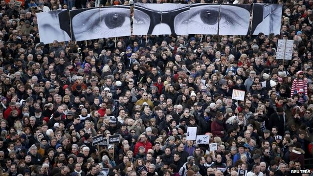 Paris demonstration after the Charlie Hebdo massacre