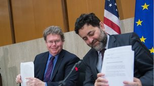 TTIP negotiators - 2014 file pic