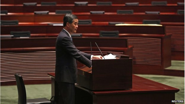 CY Leung delivers speech in Hong Kong parliament (14 Jan 2015)