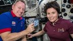 Astronauts on board the ISS