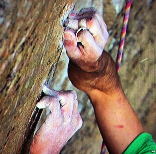 Kevin Jorgeson's hands