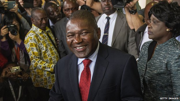 Mozambican president Filipe Nyusi