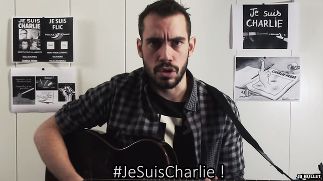 JB Bullet singing #JeSuisCharlie