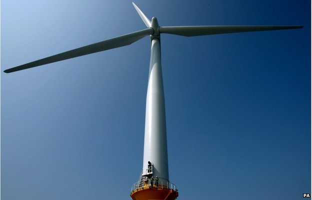 Offshore wind turbine (Image: PA)