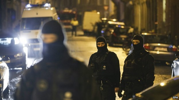 Police in Verviers. 15 Jan 2015