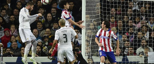 Sergio Ramos scores