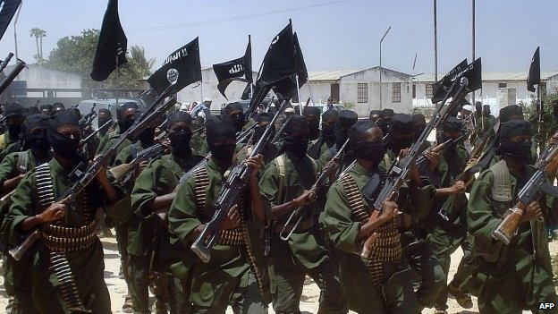 Al-Shabab fighters in Somalia - 2011