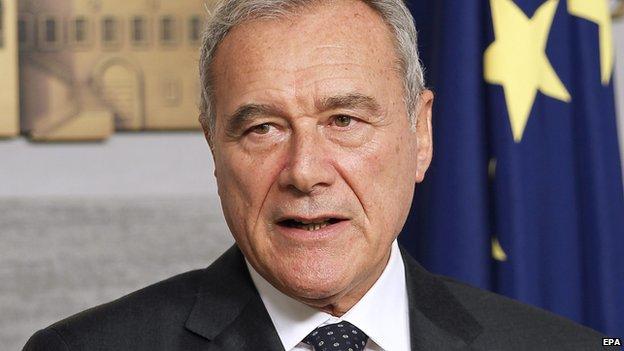 Italian acting president Pietro Grasso