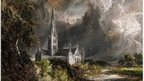 Salisbury Cathedral from the Meadows by Constable
