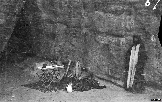 Shakespear's camping gear probably in mountains in vicinity of Wadi Rum/Yatun Aqabah, May 1914