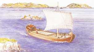 Artist's impression of the Asterix, Gallo-Roman wreck, found in the harbour mouth of St Peter Port, Guernsey