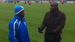 Sol Campbell and Chris Powell