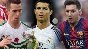 Chris Venables, Cristiano Ronaldo and Lionel Messi