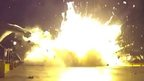 Moment SpaceX Flacon 9 rocket crash lands on barge