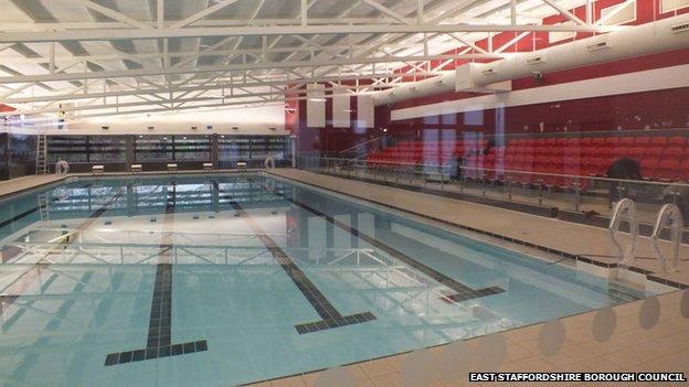adam peaty opens uttoxeter leisure centre bbc news