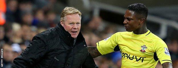 Southampton manager Ronald Koeman and striker Eljero Elia