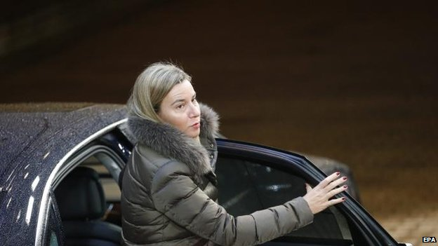 EU foreign policy chief Federica Mogherini, 19 Jan