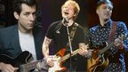 Mark Ronson, Ed Sheeran and George Ezra