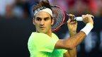 Roger Federer in action at the 2015 Australian Open