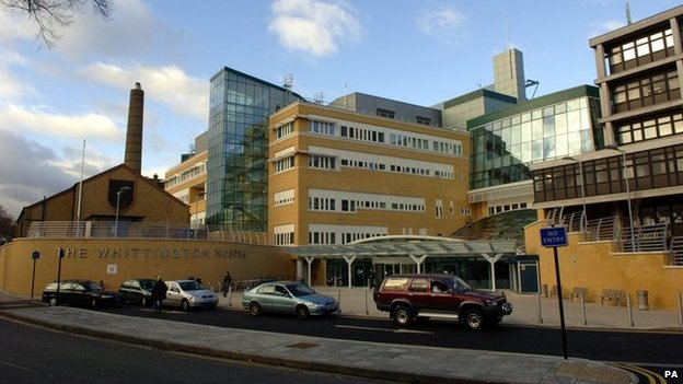 Whittington Hospital in north London